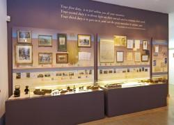 Ο εκθεσιακός χώρος στο Πολεμικό Μουσείο Θεσσαλονίκης